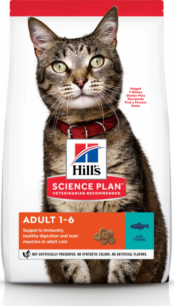 Hill's Feline Adult 1-6 Тунец, 2 кг