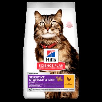 Hill's Feline Adult Sensitive Stomach & Skin, 1,5 кг