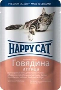 Happy Cat Говядина и птица, 100 гр