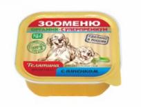 Зооменю для собак Мясной паштет «Телятина с ягненком» 100 гр