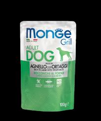 Monge GRILL POUCH AGNELLO con ORTAGGI, 100 гр
