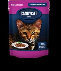 Candycat Мясные кусочки с Индейкой и овощами в желе