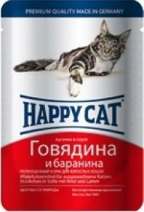 Happy Cat Говядина и баранина, 100 гр