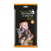 Влажные салфетки Teddy Pets для ухода за шерстью животных, 25 шт
