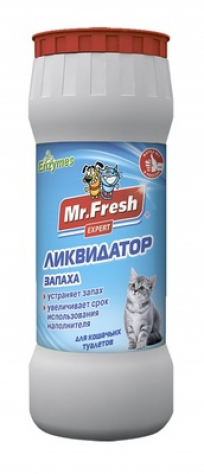 Mr.Fresh ликвидатор запахов 2в1 для кошачьих туалетов, 500 гр
